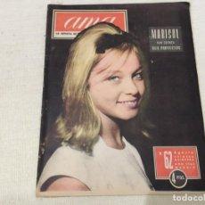 Coleccionismo de Revistas y Periódicos: REVISTA AMA AGOSTO 1962 MARISOL PEPA FLORES LIZ TAYLOR CLEOPATRA BAVIERA ARGELIA CANCION DE JUVENTUD. Lote 194720972