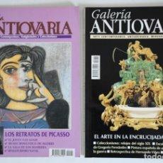 Coleccionismo de Revistas y Periódicos: 2 REVISTAS GALERÍA ANTICUARIA - ARTE CONTEMPORÁNEO - ANTIGÜEDADES - SUBASTAS - COLECCIONISMO . Lote 194742980
