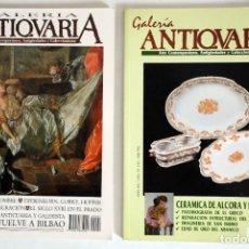 Coleccionismo de Revistas y Periódicos: 2 REVISTAS GALERÍA ANTICUARIA - ARTE CONTEMPORÁNEO - ANTIGÜEDADES - SUBASTAS - COLECCIONISMO . Lote 194742991