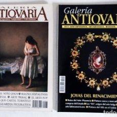 Coleccionismo de Revistas y Periódicos: 2 REVISTAS GALERÍA ANTICUARIA - ARTE CONTEMPORÁNEO - ANTIGÜEDADES - SUBASTAS - COLECCIONISMO . Lote 194742997