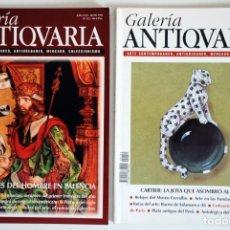 Coleccionismo de Revistas y Periódicos: 2 REVISTAS GALERÍA ANTICUARIA - ARTE CONTEMPORÁNEO - ANTIGÜEDADES - SUBASTAS - COLECCIONISMO . Lote 194743005