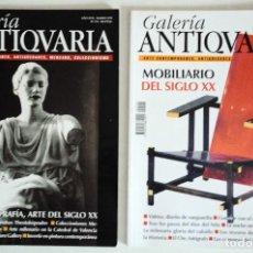 Coleccionismo de Revistas y Periódicos: 2 REVISTAS GALERÍA ANTICUARIA - ARTE CONTEMPORÁNEO - ANTIGÜEDADES - SUBASTAS - COLECCIONISMO . Lote 194743033