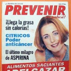 Coleccionismo de Revistas y Periódicos: REVISTA PREVENIR ES SALUD Nº 39 - GLOBUS - 1992 ? - VER INDICE. Lote 194743553