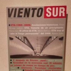 Coleccionismo de Revistas y Periódicos: REVISTA - VIENTO SUR NUM. 106 - POLITICA - AÑO 2009 - IZQUIERDA ALTERNATIVA - ALTO FUEGO ETA. Lote 194743890