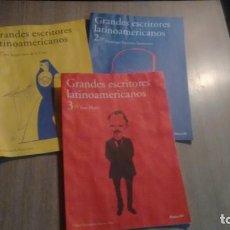 Coleccionismo de Revistas y Periódicos: LOTE DE 5 FOLLETOS - GRANDES ESCRITORES LATINOAMERICANOS -. Lote 194776340