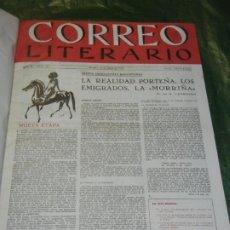 Coleccionismo de Revistas y Periódicos: TOMO CON 24 NUMEROS DEL CORREO LITERARIO DEL NUM. 70 AL NUM. 93 1953-1954. Lote 194779121