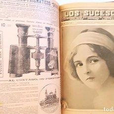 Coleccionismo de Revistas y Periódicos: LOS SUCESOS PERIÓDICO ILUSTRADO 15 NÚMEROS AÑO IX 433 JUNIO 1912 AL 449 OCTUBRE 1912 ENCUADERNADOS. Lote 194780218