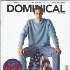 Coleccionismo de Revistas y Periódicos: DOMINICAL PAU GASOL. Lote 194861481