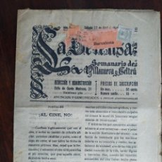 Coleccionismo de Revistas y Periódicos: UNA REVISTA DE; LA DEFENSA SEMANARIO DE VILLANUEVA Y GELTRU, 1918. Lote 194877768