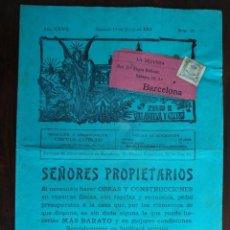 Coleccionismo de Revistas y Periódicos: UNA PORTADA DE LA REVISTA;LA DEFENSA SEMANARIO DE VILLANUEVA Y GELTRU, 1909. . Lote 194878633