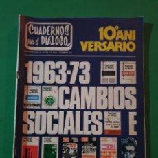 Coleccionismo de Revistas y Periódicos: REVISTA CUADERNOS PARA EL DIALOGO. EXTRAORDINARIO DICIEMBRE 1973. Lote 194880051