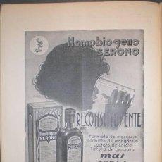 Coleccionismo de Revistas y Periódicos: LA MEDICINA IBERA. REVISTA SEMANAL DE MEDICINA Y CIRUGÍA. AÑO XVIII, TOMO XXIX, VOL. II. Nº 883 1934. Lote 194883391