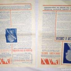 Coleccionismo de Revistas y Periódicos: EJEMPLARES DE PAX ACCIÓN CATÓLICA ALMERÍA 1961. Lote 194887481