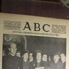 Coleccionismo de Revistas y Periódicos: ABC 11 DE NOVIEMBRE DE 1939.GUERRA MUNDIAL.. Lote 194892662