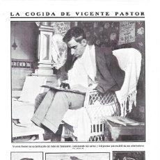 Coleccionismo de Revistas y Periódicos: 1911 HOJA REVISTA SANTANDER COGIDA MATADOR DE TOROS TORERO VICENTE PASTOR. Lote 194894410