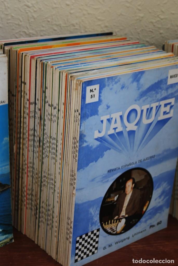 Coleccionismo de Revistas y Periódicos: REVISTA JAQUE - REVISTA ESPAÑOLA DE AJEDREZ - NÚMEROS 1 A 144 - Foto 4 - 194895088