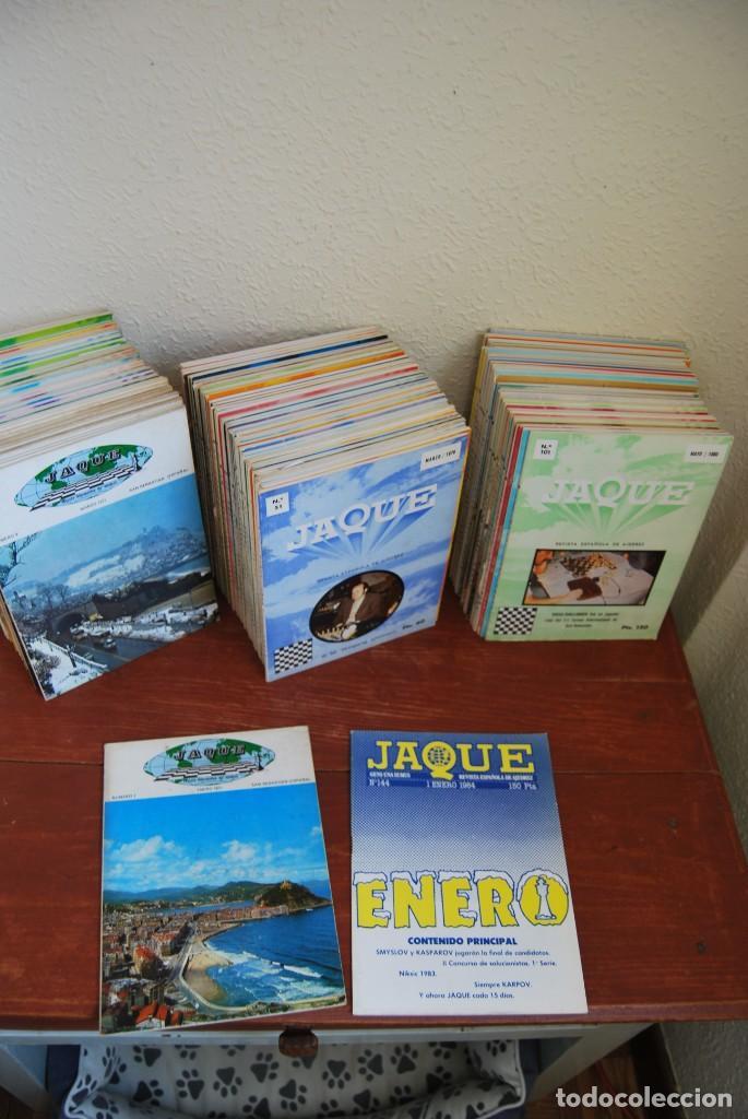 Coleccionismo de Revistas y Periódicos: REVISTA JAQUE - REVISTA ESPAÑOLA DE AJEDREZ - NÚMEROS 1 A 144 - Foto 6 - 194895088
