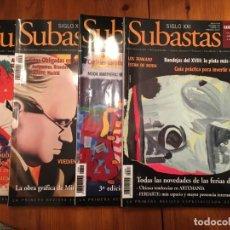 Coleccionismo de Revistas y Periódicos: REVISTA SUBASTAS SIGLO XXI Nº 88-89-90-91- AÑO 2007 LOTE 4 REV.. Lote 194895900