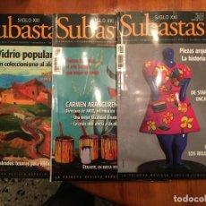 Coleccionismo de Revistas y Periódicos: REVISTAS SUBASTAS DEL SIGLO XXI Nº 39- 83- 110 AÑO 2007 LOTE 3 REV,. Lote 194896173