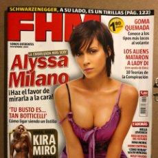 Coleccionismo de Revistas y Periódicos: FHM N° 8 (2004). ALYSSA MILANO, KIRA MIRÓ, MILLA JOVOVICH, NINA MORIC,..... Lote 194904806