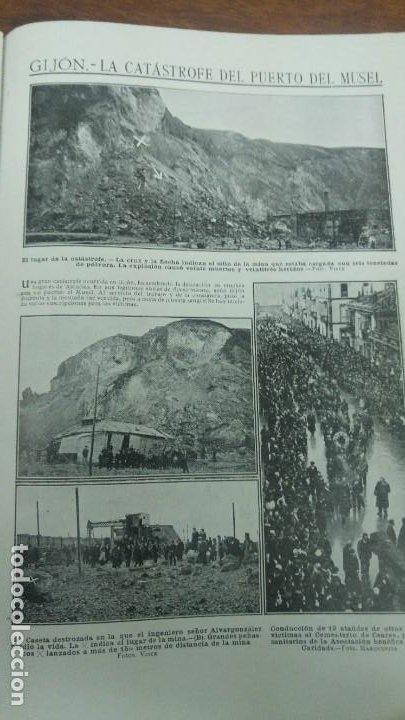 GIJON CATASTROFE PUERTO MUSEL PRESA CANAL URGEL NAUFRAGIO AUTOMOVIL HOSPITALET LLOBREGAT 1913 (Coleccionismo - Revistas y Periódicos Antiguos (hasta 1.939))
