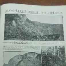 Coleccionismo de Revistas y Periódicos: GIJON CATASTROFE PUERTO MUSEL PRESA CANAL URGEL NAUFRAGIO AUTOMOVIL HOSPITALET LLOBREGAT 1913. Lote 194906240