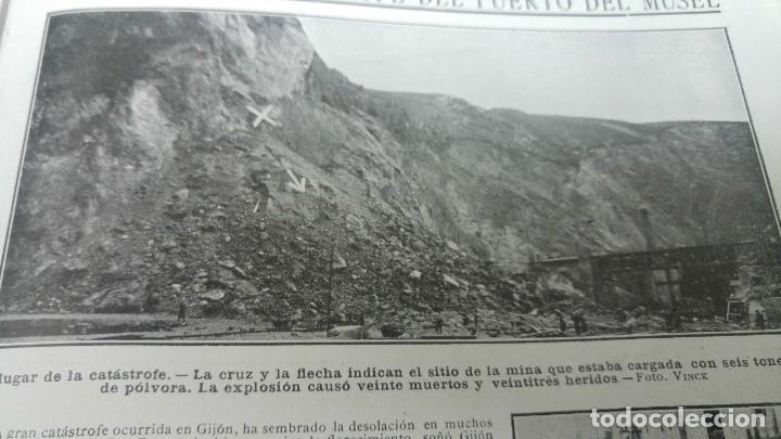 Coleccionismo de Revistas y Periódicos: GIJON CATASTROFE PUERTO MUSEL PRESA CANAL URGEL NAUFRAGIO AUTOMOVIL HOSPITALET LLOBREGAT 1913 - Foto 2 - 194906240