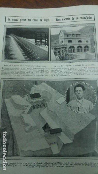 Coleccionismo de Revistas y Periódicos: GIJON CATASTROFE PUERTO MUSEL PRESA CANAL URGEL NAUFRAGIO AUTOMOVIL HOSPITALET LLOBREGAT 1913 - Foto 4 - 194906240