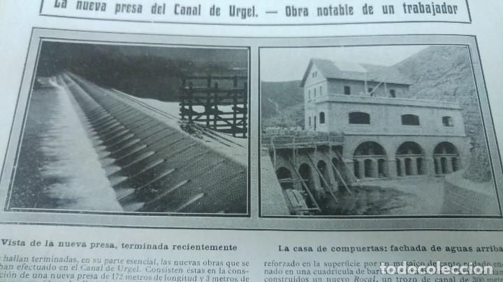Coleccionismo de Revistas y Periódicos: GIJON CATASTROFE PUERTO MUSEL PRESA CANAL URGEL NAUFRAGIO AUTOMOVIL HOSPITALET LLOBREGAT 1913 - Foto 5 - 194906240
