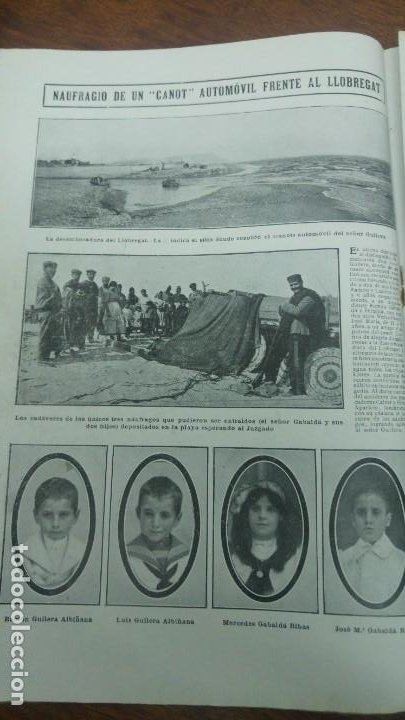 Coleccionismo de Revistas y Periódicos: GIJON CATASTROFE PUERTO MUSEL PRESA CANAL URGEL NAUFRAGIO AUTOMOVIL HOSPITALET LLOBREGAT 1913 - Foto 6 - 194906240