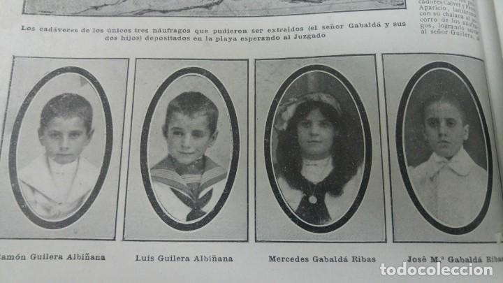 Coleccionismo de Revistas y Periódicos: GIJON CATASTROFE PUERTO MUSEL PRESA CANAL URGEL NAUFRAGIO AUTOMOVIL HOSPITALET LLOBREGAT 1913 - Foto 7 - 194906240