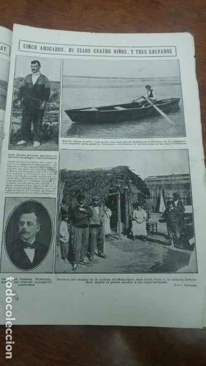 Coleccionismo de Revistas y Periódicos: GIJON CATASTROFE PUERTO MUSEL PRESA CANAL URGEL NAUFRAGIO AUTOMOVIL HOSPITALET LLOBREGAT 1913 - Foto 8 - 194906240