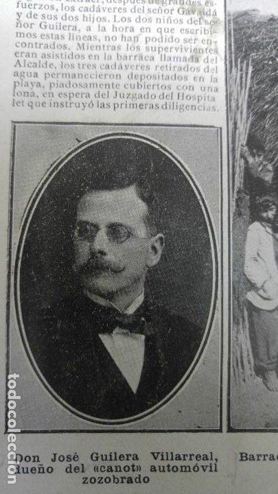 Coleccionismo de Revistas y Periódicos: GIJON CATASTROFE PUERTO MUSEL PRESA CANAL URGEL NAUFRAGIO AUTOMOVIL HOSPITALET LLOBREGAT 1913 - Foto 9 - 194906240