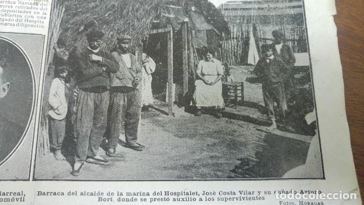 Coleccionismo de Revistas y Periódicos: GIJON CATASTROFE PUERTO MUSEL PRESA CANAL URGEL NAUFRAGIO AUTOMOVIL HOSPITALET LLOBREGAT 1913 - Foto 10 - 194906240