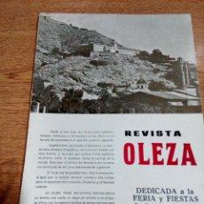Coleccionismo de Revistas y Periódicos: ORIHUELA - REVISTA OLEZA - 1976 - FERIA Y FIESTAS - BUEN ESTADO - VER FOTOS . Lote 194908975