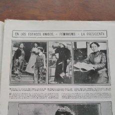 Coleccionismo de Revistas y Periódicos: FEMINISMO ESTADOS UNIDOS AMERICA FUENTERRABIA EL REY DE LOS CAZADORES DE AGUILAS LEON DORN AÑO 1913. Lote 194940263