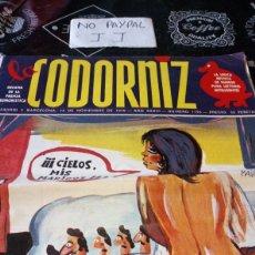 Coleccionismo de Revistas y Periódicos: REVISTA SATÍRICA LA CODORNIZ NÚMERO 1795. Lote 194941468