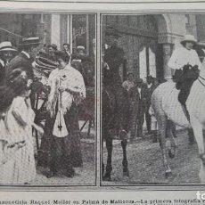 Coleccionismo de Revistas y Periódicos: BODA JOSEFA PATIÑO Y FERNANDEZ DURAN Y EL CONDE DE SASTAGO MARQUES MONISTROL HOJA REVISTA AÑO 1913. Lote 194941675