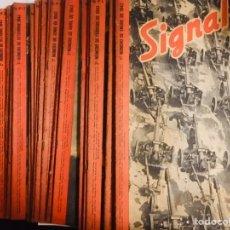 Coleccionismo de Revistas y Periódicos: 24 REVISTA SIGNAL COLECCIÓN COMPLETA AÑO 1943 DEL NUM.1 AL 24. Lote 194956731