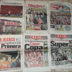 Coleccionismo de Revistas y Periódicos: LOTE DE PERIODICOS Y DIARIOS DEL REAL CLUB DEPORTIVO MALLORCA CAMPEÓN ASCENSO A PRIMERA 1997 . Lote 194962100