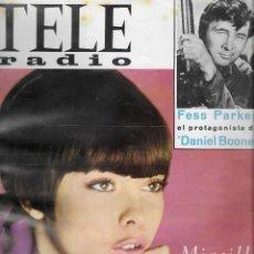 Coleccionismo de Revistas y Periódicos: REVISTA TELE RADIO Nº 472, 9-15 ENERO 1967, MIREILLE MATHIEU, FESS PARKER, ROCIO JURADO. Lote 194966588