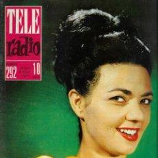 Coleccionismo de Revistas y Periódicos: REVISTA TELE RADIO Nº 292, 29 JULIO - 4 AGOSTO 1963, MAGDA MALDONADO, ADRIANO CELENTANO.. Lote 194967480