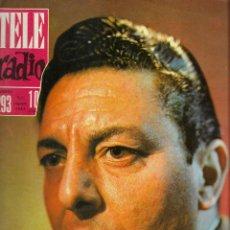 Coleccionismo de Revistas y Periódicos: REVISTA TELE RADIO Nº 293, 5-11 AGOSTO 1963,JOSE MARIA ESCUEZ, HARRY POLL.. Lote 194967751