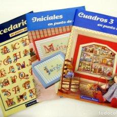 Coleccionismo de Revistas y Periódicos: LOTE INICIALES ABECEDARIOS Y CUADROS 3 EN PUNTO DE CRUZ - CREACIONES ARTIME. Lote 194972611