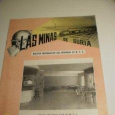 Coleccionismo de Revistas y Periódicos: BOLETÍN LAS MINAS DE SURIA. OCTUBRE 1962 Nº 4 (ESTADO NORMAL). Lote 194977980