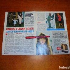 Coleccionismo de Revistas y Periódicos: CLIPPING 1989: CARLOS Y DIANA - PUBLICIDAD CERÁMICA ZIRCONIO CON JULIO IGLESIAS. Lote 194978288