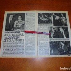 Coleccionismo de Revistas y Periódicos: CLIPPING 1989: JULIO IGLESIAS Y LOLA FLORES. Lote 194978297