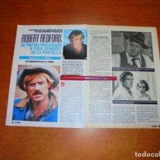 Coleccionismo de Revistas y Periódicos: CLIPPING 1989: ROBERT REDFOR. Lote 194978308