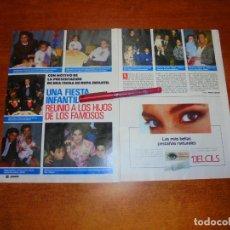 Coleccionismo de Revistas y Periódicos: CLIPPING 1989: FIESTA GALERIAS PRECIADOS - MOTHERCARE. MILA XIMENEZ. MIGUEL MOLINA. CARMINA ORDOÑEZ. Lote 194978336