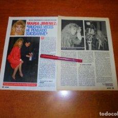 Coleccionismo de Revistas y Periódicos: CLIPPING 1989: MARÍA JIMÉNEZ. Lote 194978338